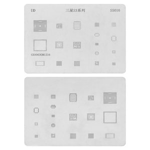BGA Stencil S5016 for Samsung I9300 Galaxy S3 Cell Phone, (18 in 1)