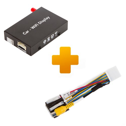 Smartphone/iPhone Wi-Fi Mirroring Adapter and Connection Cable Kit for Toyota Touch, Scion Bespoke