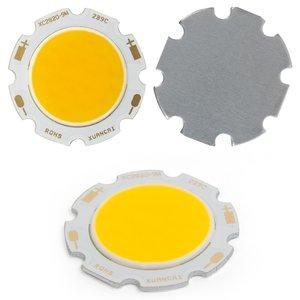 COB LED модуль 9 Вт (теплый белый, 850 лм, 28 мм, 300 мА, 27-30 В)