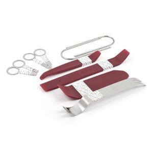 Набір інструментів для знімання обшивки (10 предметів, поліуретан/сталь)