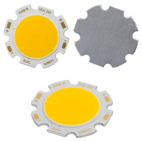 COB LED модуль 3 Вт теплий білий, 250 лм, 28 мм, 300 мА, 9 12 В