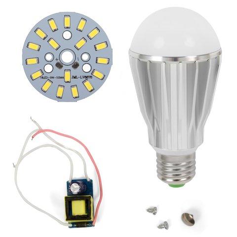 Комплект для збирання світлодіодної лампи SQ-Q17 9 Вт (холодний білий, E27), регулювання яскравості (димірування)